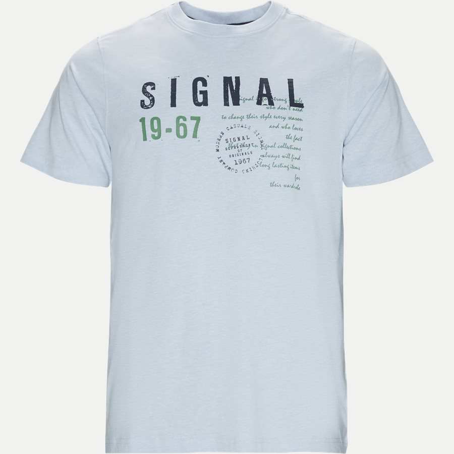 WAINE LOGO - Wayne Tee KM  - T-shirts - Regular - L.BLÅ MELANGE - 1